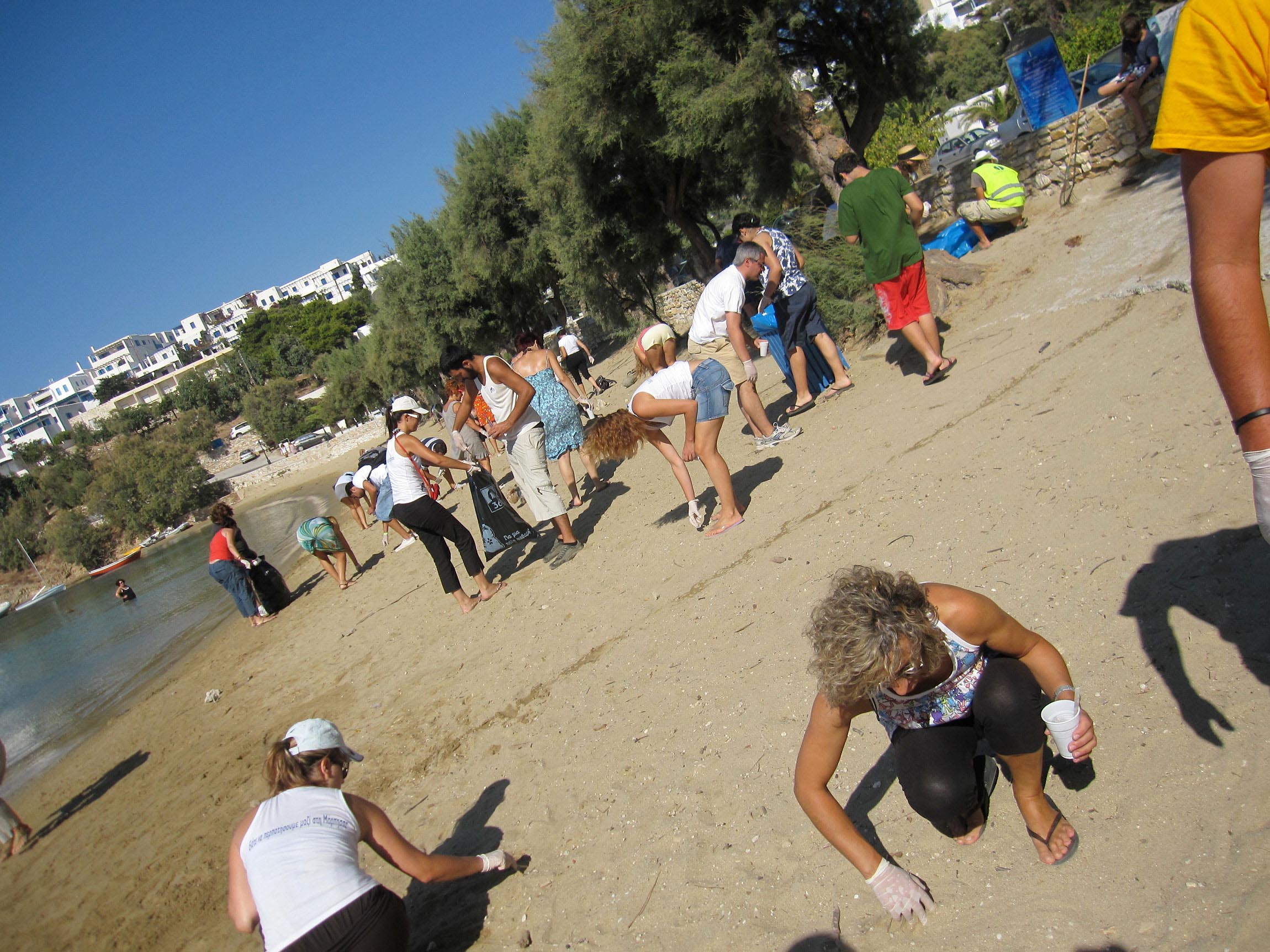 Piso Livadi beach cleanup, 2011